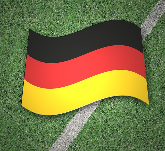 Flag germany gold, sports.