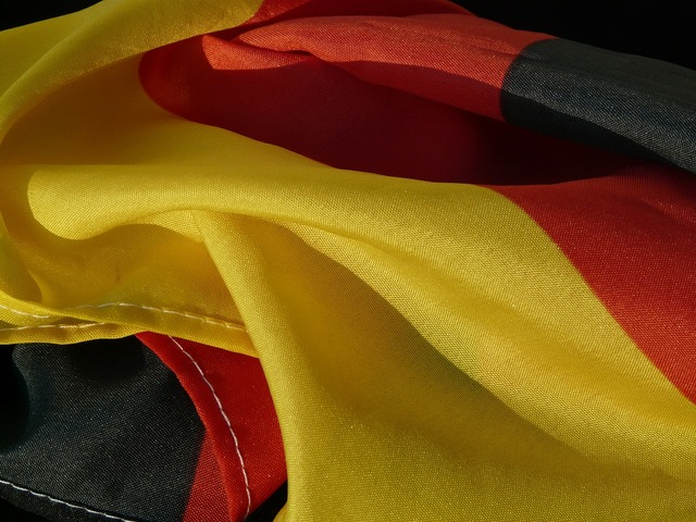 Flag germany rumpled, backgrounds textures.