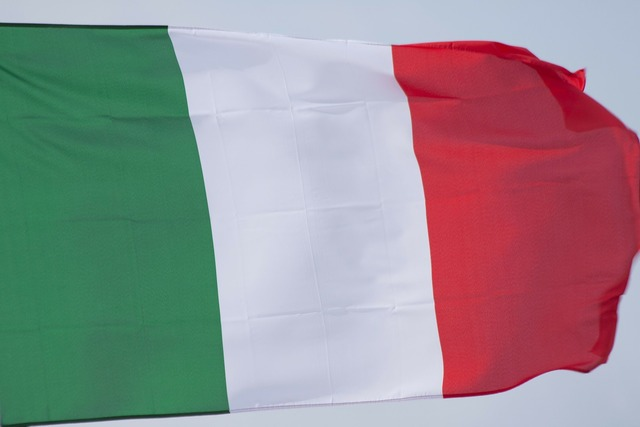Flag italy green.