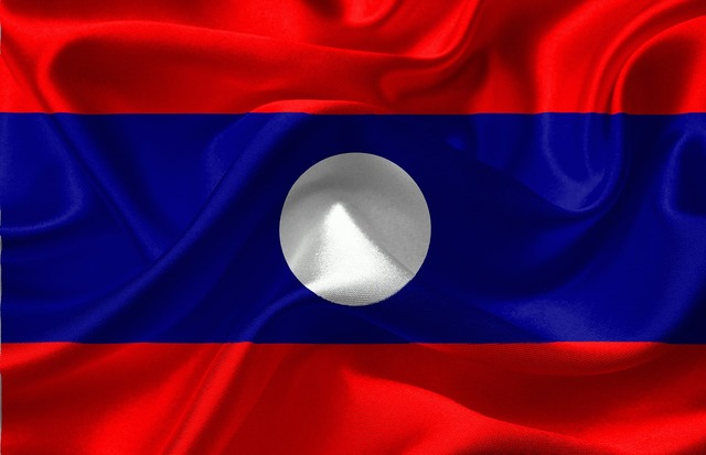 Flag laos asia, backgrounds textures.