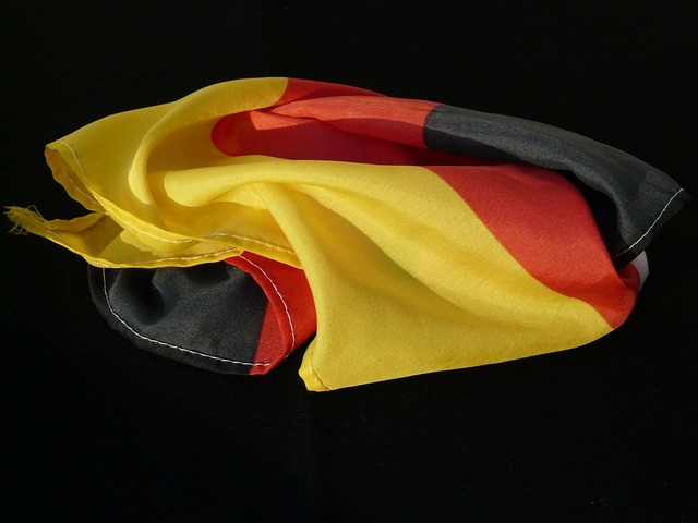 Flag rumpled germany.