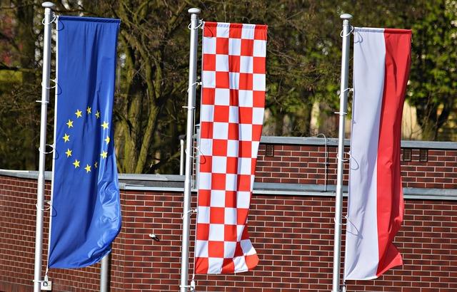 Flag the union european.