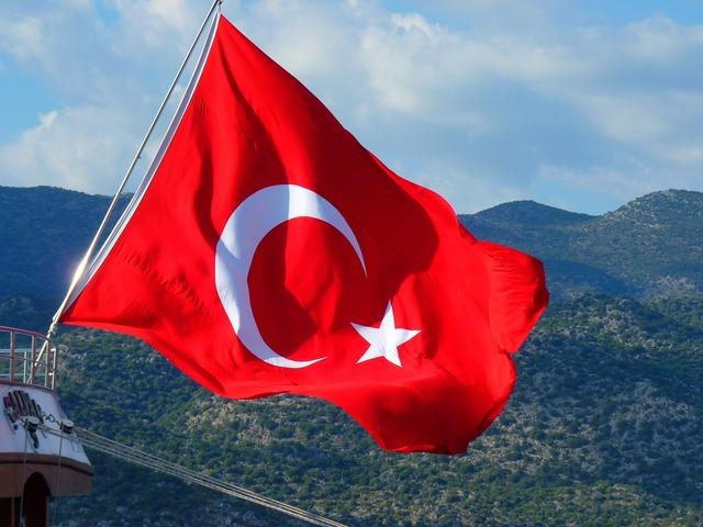 Flag turkish turkey.