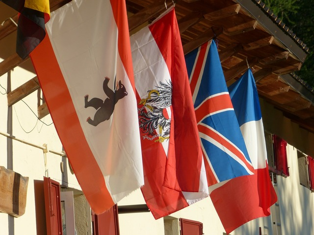 Flags international austria.
