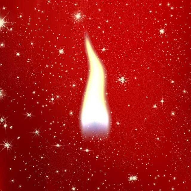 Flame candle candlelight.