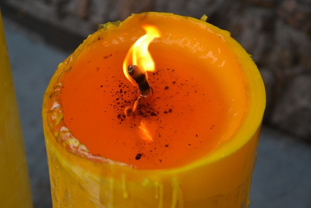 Flame candle yellow, religion.