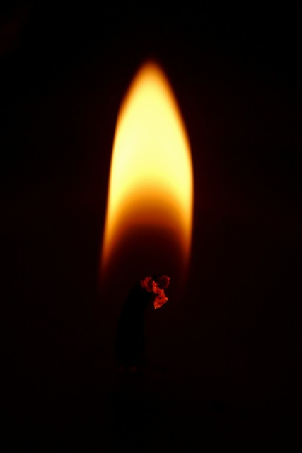 Flame fire candle.