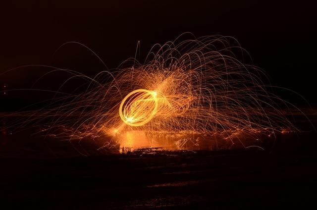 Flame fire light.