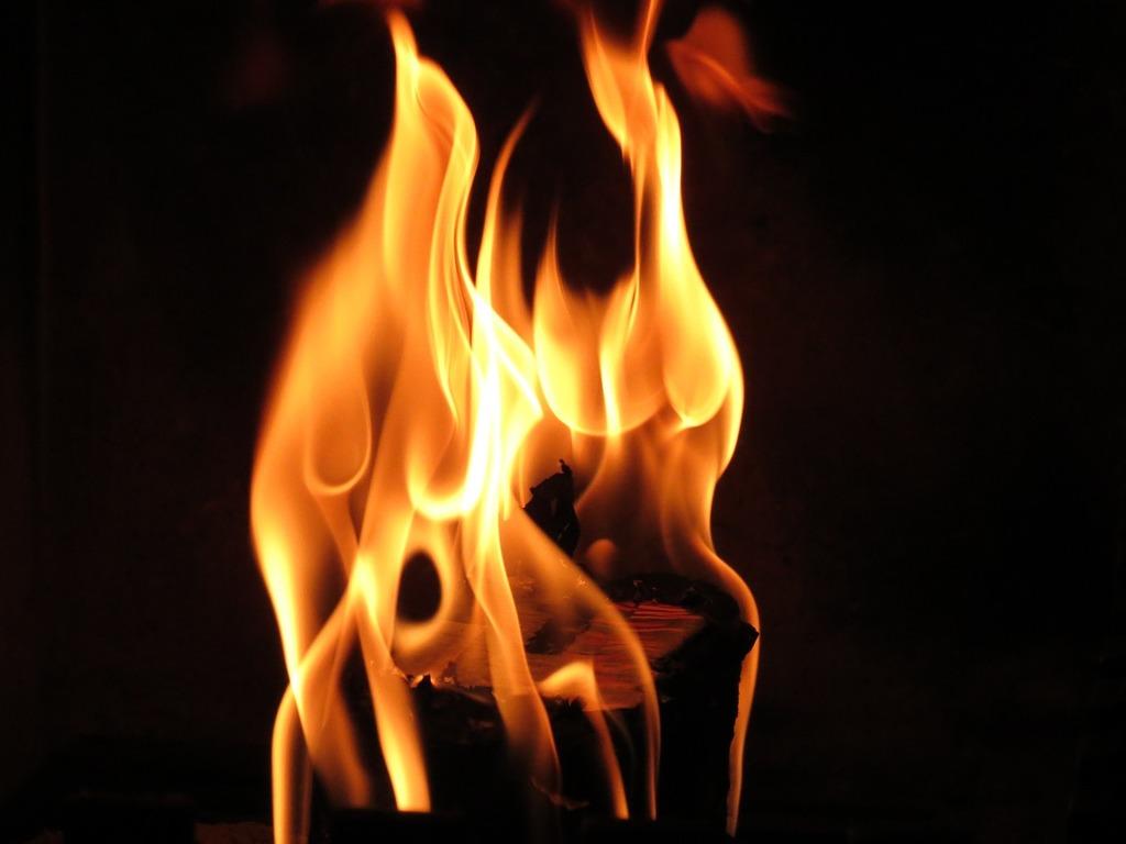 Flame fire open fire.