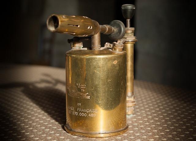 Flea market blowpipe copper.