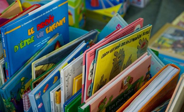 Flea market books albums.