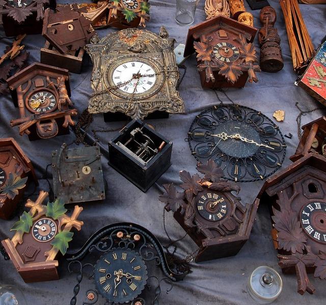 Flea market clock arrows.