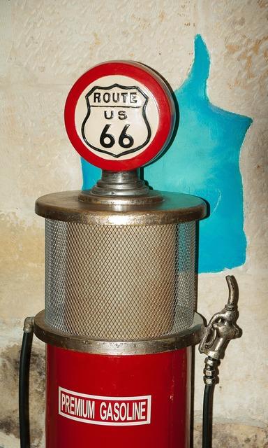 Flea market gas pump fuel.
