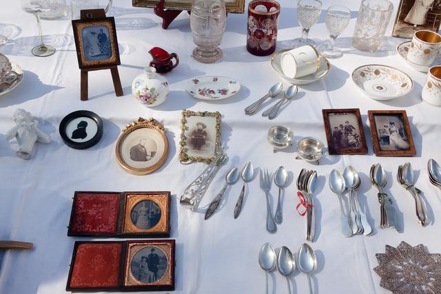 Flea market junk antiques.