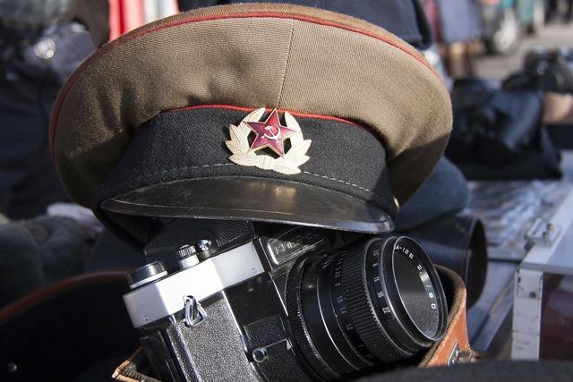 Flea market militaria military cap.