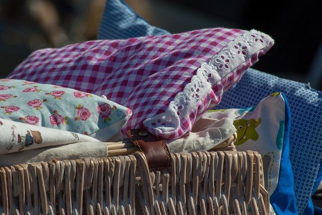 Flea market pillows bedding.