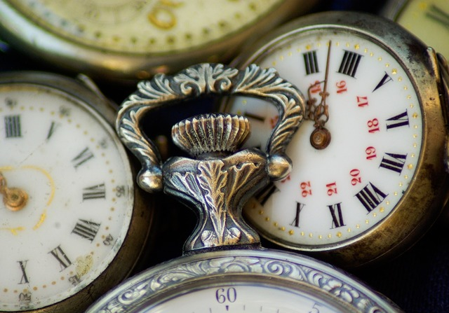 Flea market watches pocket dial.