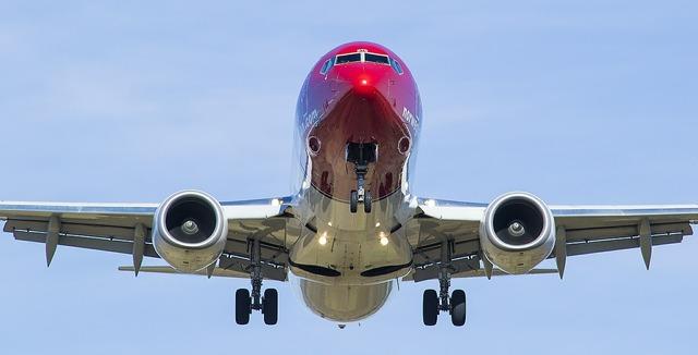 Flight aircraft boeing 737.