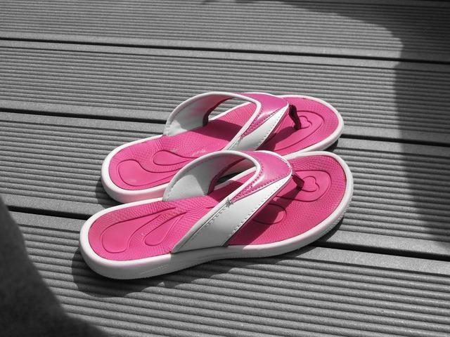 Flip flops sandals shoes.