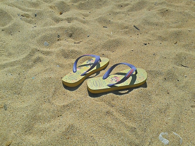 Flip flops shoes summer, travel vacation.