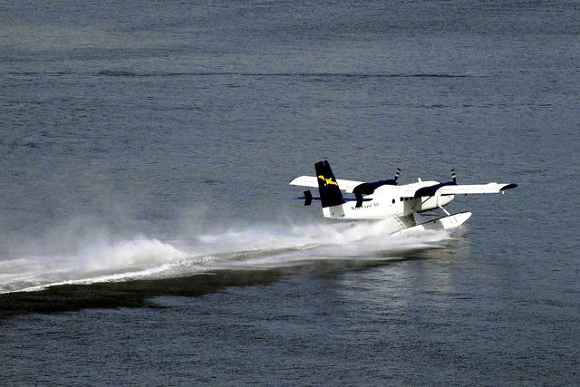 Float plane water airplane, transportation traffic.