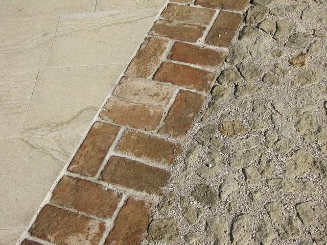 Floor bricks wall.