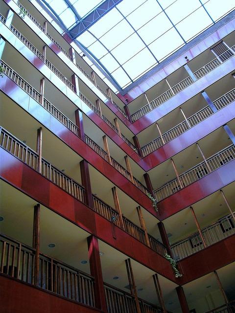 Floor hallway inner hallway, architecture buildings.