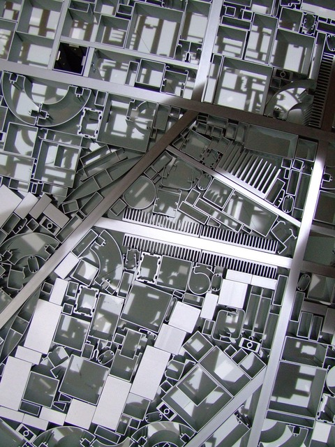 Floorplan metal roads, transportation traffic.