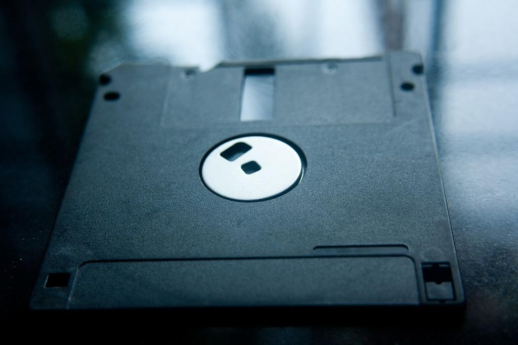 Floppy disc data storage, computer communication.