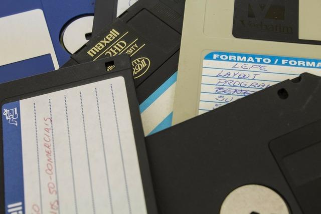 Floppy disk data disk.