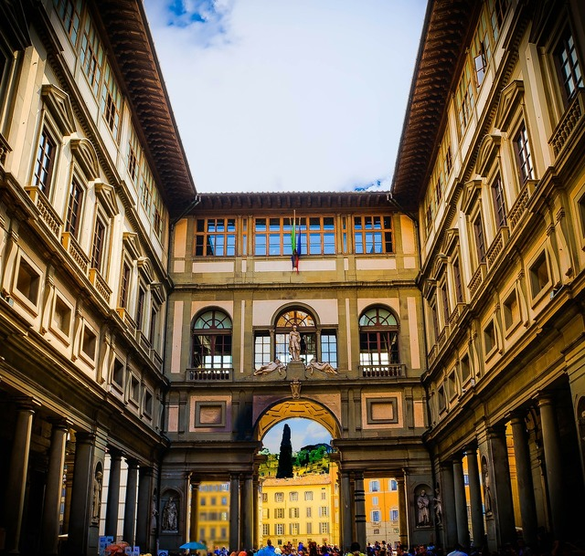 Florence italy uffizi gallery, architecture buildings.