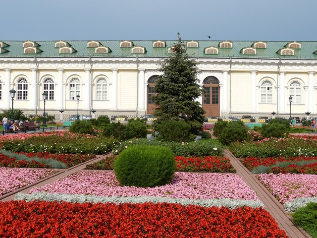 Flower bed moscow russia.