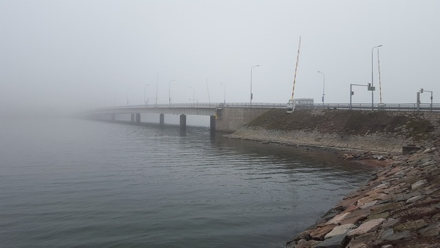 Fog island ferry helsinki, transportation traffic.