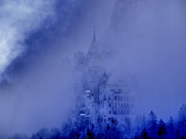 Fog kristin castle, architecture buildings.