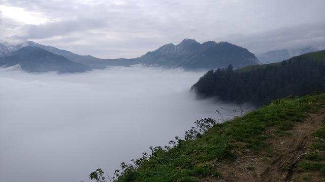 Fog mountains central switzerland.