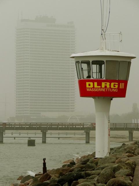 Fog watchtower warnemünde, architecture buildings.
