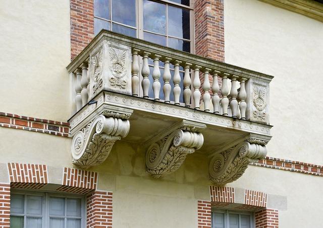 Fontainebleau palace balcony, architecture buildings.
