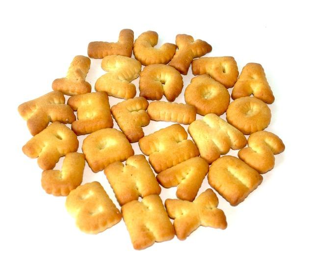 Food alphabet biscuit, food drink.