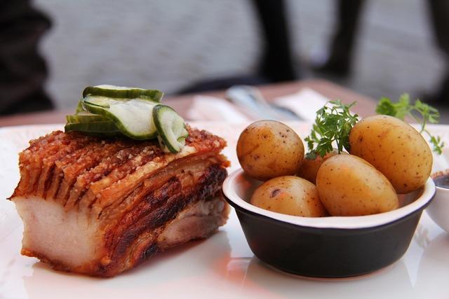 Food delicious roast pork belly, food drink.
