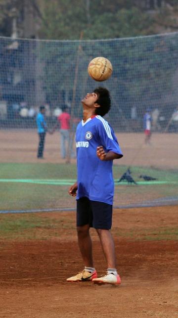 Football ball balance, sports.