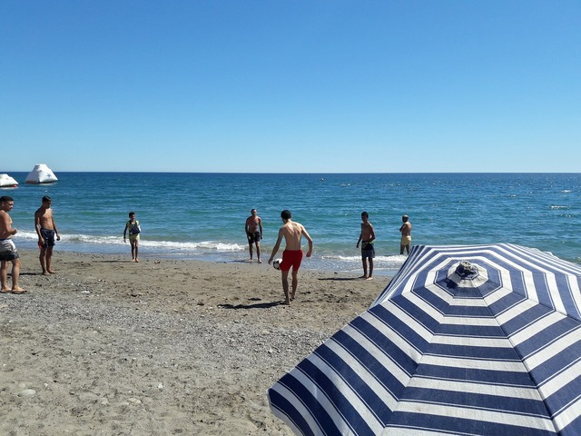 Football beach football match, sports.