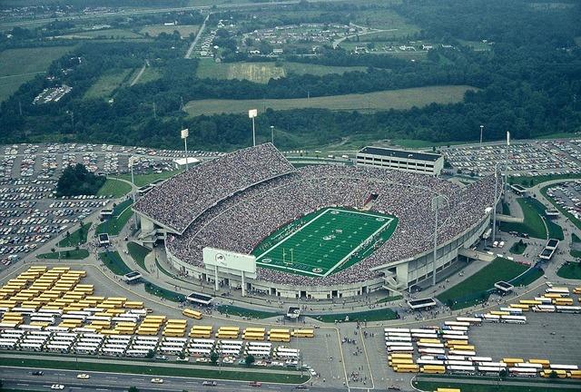 Football stadium air balloon, sports.