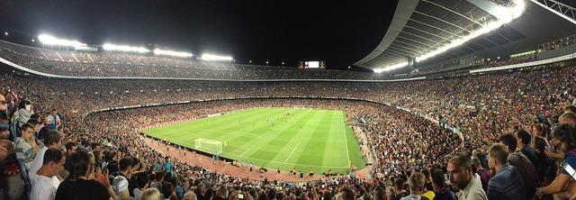 Football stadium barcelona, sports.