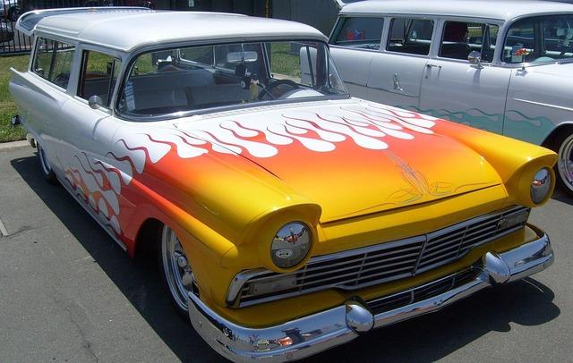 Ford falcon classic car car, transportation traffic.