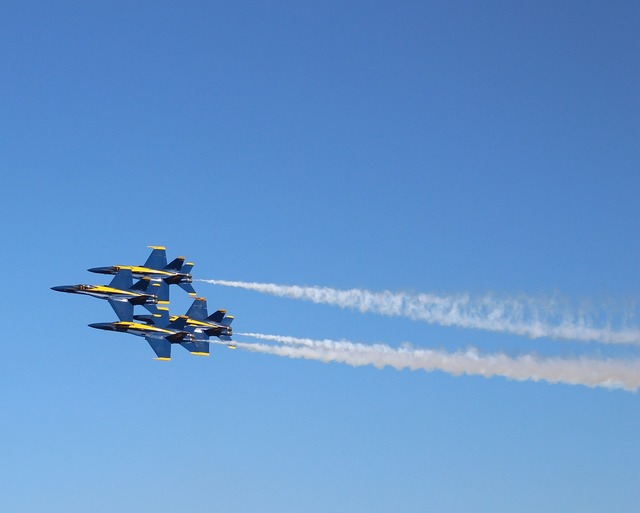 Formation blue-angel marines.
