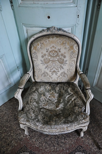 Former chair flea market antiques.