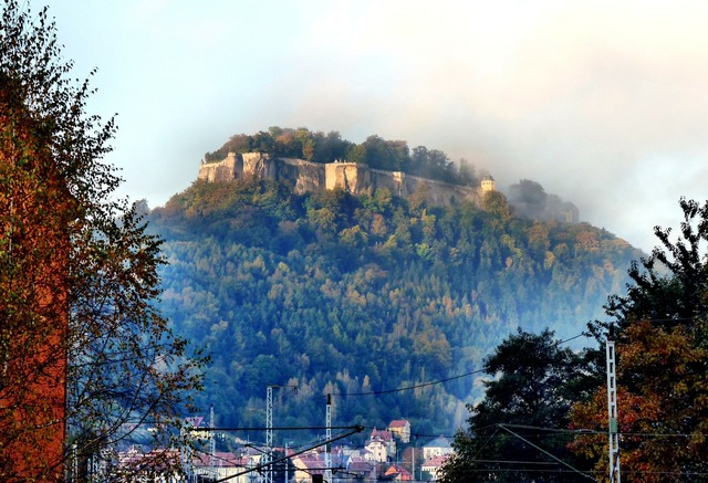 Fortress doncaster fog landscape, nature landscapes.
