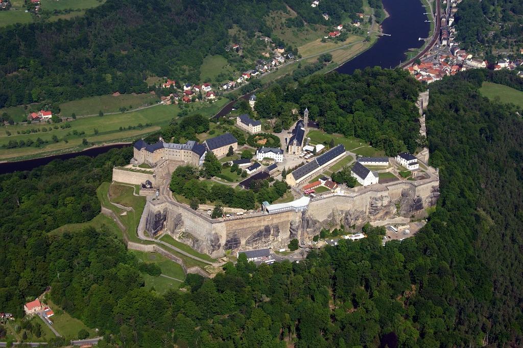 Fortress königstein saxon switzerland, architecture buildings.
