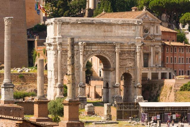 Forum romanum arch septimius severus, architecture buildings.