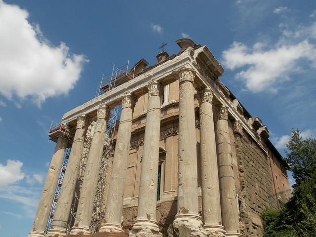 Forum romanum rome italy, architecture buildings.